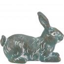 Poly bunny Ramy, L13cm, W6cm, H10cm, green patina